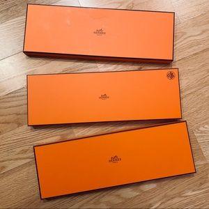 3 Authentic Hermes Tie Boxes